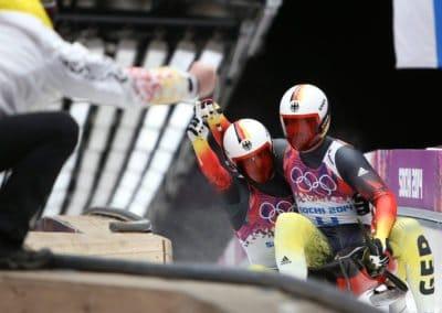 Olympia-Olympische Spiele 2014, Rodeln Doppel Herren
