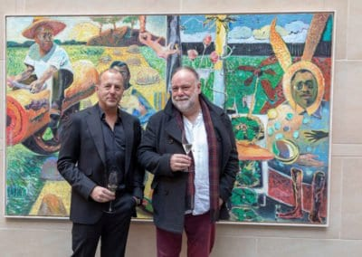 Ausstellung mit großformatigen Arbeiten und Grafiken von Harald Reiner Gratz