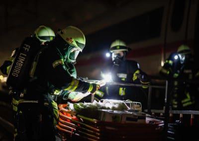 Katastrophenschutz Übung ICE Schnellfahrstrecke Köln-Rhein-Main